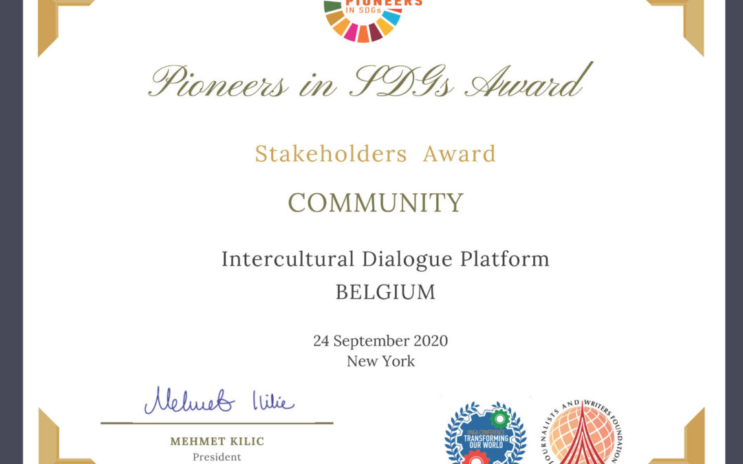 The CommUnity Project won Stakeholders Award at the Pioneers in SDGs Awards 2020